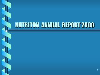 NUTRITON  ANNUAL  REPORT 2000