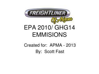 EPA 2010/ GHG14 EMMISIONS
