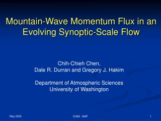 Mountain-Wave Momentum Flux in an Evolving Synoptic-Scale Flow
