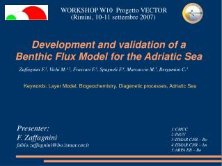 Development and validation of a Benthic Flux Model for the Adriatic Sea