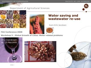 Water saving and wastewater re-use