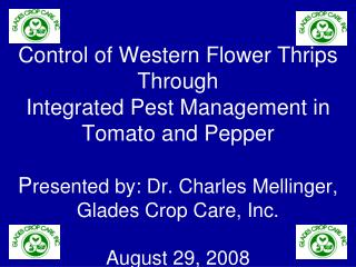 IPM of Western Flower Thrips my discussion points