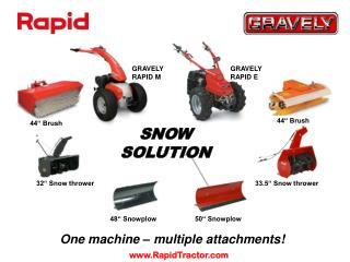 One machine – multiple attachments!