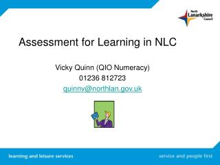 Assessment for Learning in NLC