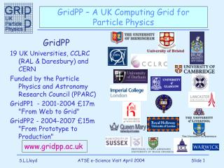 GridPP – A UK Computing Grid for Particle Physics