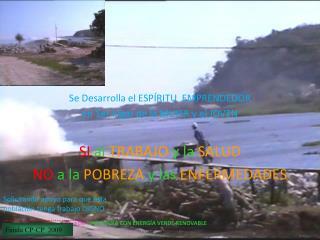 """Proyecto  """" VIDA SANA CON ENERGÍA VERDE RENOVABLE"""