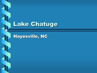 Lake Chatuge