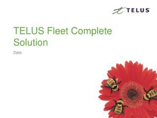 TELUS Fleet Complete Solution
