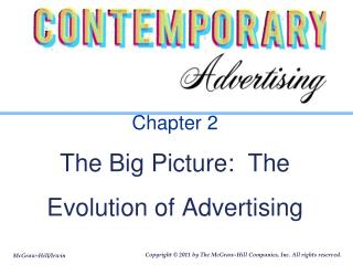Chapter 2 The Big Picture:  The Evolution of Advertising