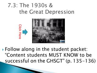 7.3: The 1930s &  the Great Depression