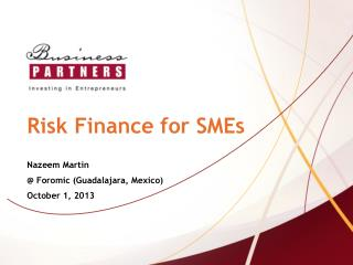 Risk Finance for SMEs