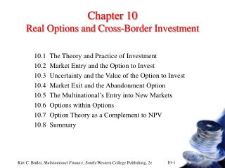 Chapter 10 Real Options and Cross-Border Investment
