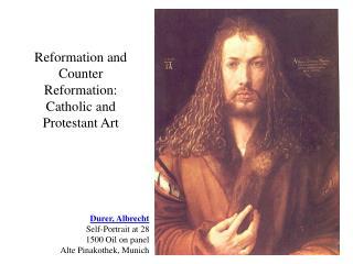 Durer, Albrecht Self-Portrait at 28 1500 Oil on panel Alte Pinakothek, Munich