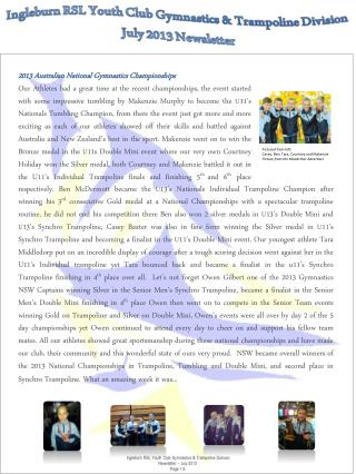 2013 Australian National Gymnastics Championships