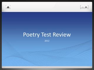 Poetry Test Review