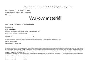 Název DUM:  VY_32_INOVACE_20_17_Občanská válka v USA Číslo skupiny:  1 Autor:  Radomír Krejčí