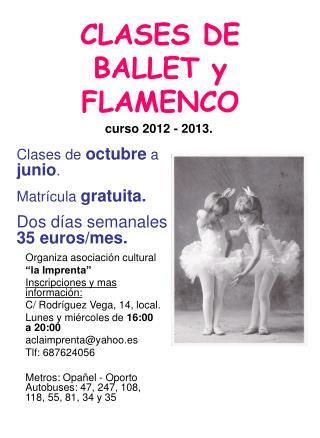 CLASES DE BALLET y FLAMENCO