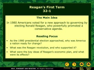 Reagan's First Term 32-1