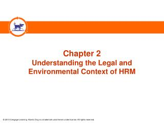 Chapter 2 Understanding the Legal and  Environmental Context of HRM