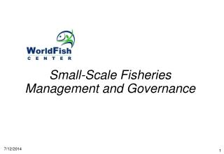Small-Scale Fisheries Management and Governance