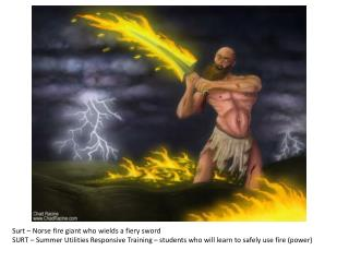 Surt – Norse fire giant who wields a fiery sword SURT – Summer Utilities Responsive Training – students who will learn