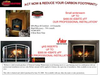 ACT NOW & REDUCE YOUR CARBON FOOTPRINT!!