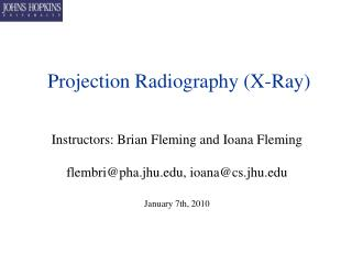 Projection Radiography (X-Ray)