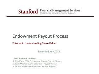 Endowment Payout Process