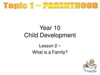 Year 10  Child Development