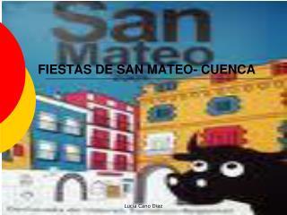 FIESTAS DE SAN MATEO- CUENCA