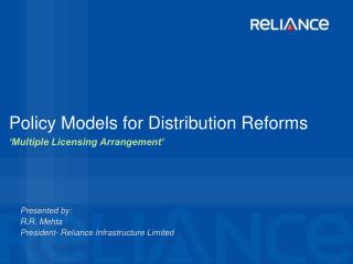 Policy Models for Distribution Reforms