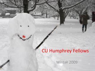 CU Humphrey Fellows