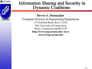Information Sharing and Security in Dynamic Coalitions