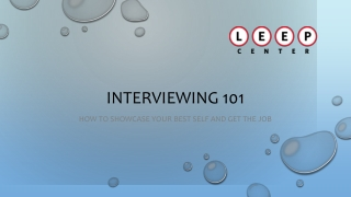 Interviewing Tips  Strategies