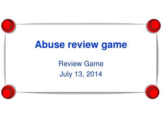 Abuse review game