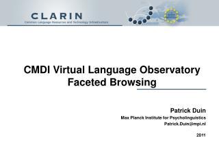 CMDI Virtual Language Observatory Faceted Browsing