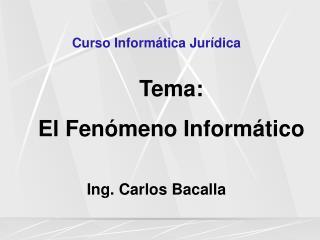 Curso Informática Jurídica
