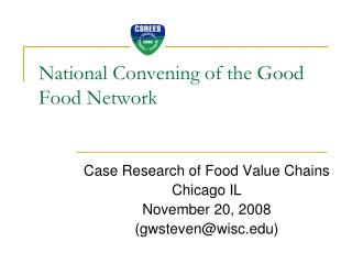National Convening of the Good Food Network