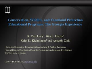 Conservation, Wildlife, and Farmland Protection Educational Programs: The Georgia Experience