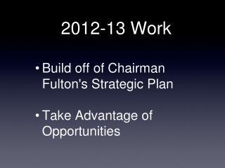 2012-13 Work