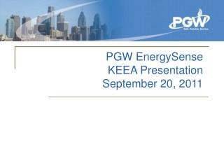 PGW EnergySense KEEA Presentation September 20, 2011