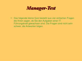 Manager-Test