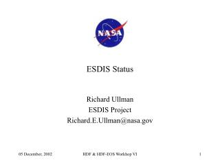 ESDIS Status