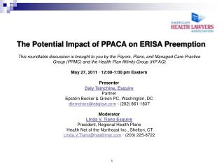 The Potential Impact of PPACA on ERISA Preemption
