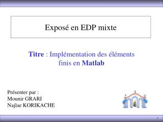 Exposéen EDP mixte