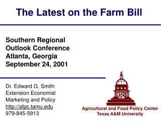 The Latest on the Farm Bill