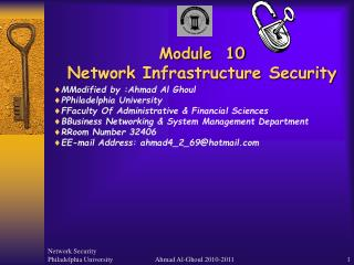 Module  10 Network Infrastructure Security