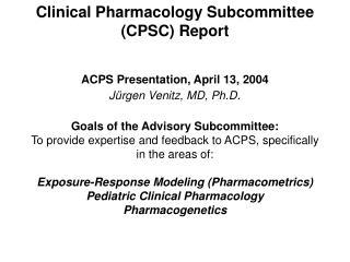 CPSC Meeting, November 17, 2003