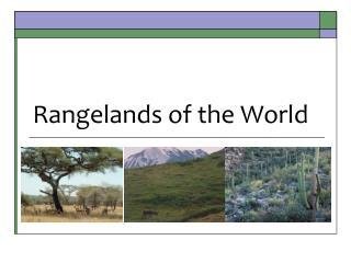 Rangelands of the World