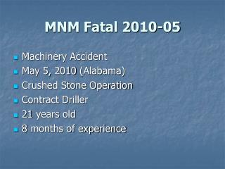 MNM Fatal 2010-05
